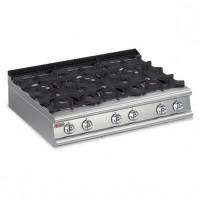 Baron Gas 6 Burner Cooktop