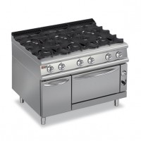 BARON - 6 Burner Gas Range with Oven 7PCF/G1205