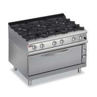 BARON - 6 Burner Gas Range with Large Oven 7PCFL/G1205