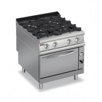 BARON - 4 Burner with Gas Oven 9PCF/G8005