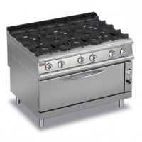 BARON - 6 Burner Gas Range with Large Oven 9PCFL/G1205
