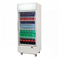 Bromic GM0660LW LED ECO Flat Glass Door 660L Upright Display Chiller w/ Lightbox