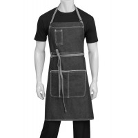 Chef Works | Bronx Black Denim Bib Apron