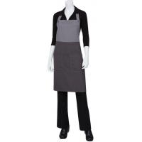 Chef Works | Soho Frost/Grey Contrast Bib Apron