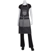 Chef Works | Bronx Black Denim Bib Apron With Scoop Neck