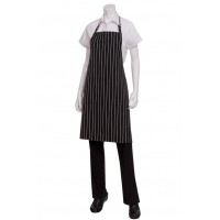 Chef Works | Black Chalk stripe Designer Bib Apron