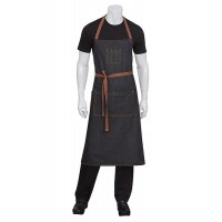 Chef Works | Memphis Black Denim Bib Apron