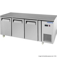GRAND True Quality 3 Door Gastronorm Work Bench Freezer