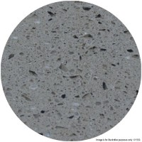 Grey Marble 'Solid Stone' Round Table Tops