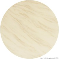 Ivory Stone Marble 'Solid Stone' Round Table Tops