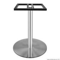 Square top Stainless Steel Table Base