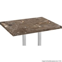 Brown Marble 'Solid Stone' Rectangle Table Tops