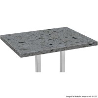 Grey Marble 'Solid Stone' Rectangle Table Tops