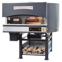 Morello Forni | MR Rotary Wood Oven + Gas Heated Bedplate