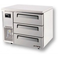 Skipio | 3 Draw Freezer With Under Counter Side Prep Table