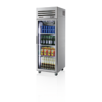 Skipio | 1 Door Glass Top Mount Fridge