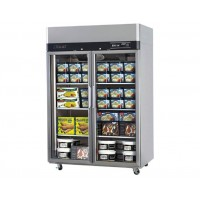 Skipio | 2 Door Glass Top Mount Freezer