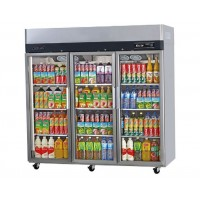 Skipio | 3 Door Glass Top Mount Fridge