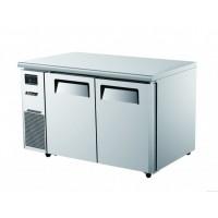 Skipio | 2 Door Under Counter Fridge/Freezer With Side Prep Table