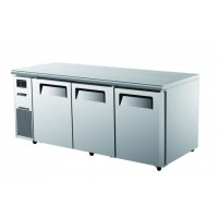 Turbo Air | 3 Door Under Counter Fridge/Freezer With Side Prep Table