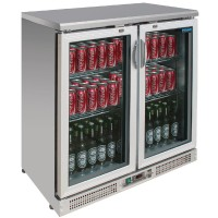 Polar Bar Stainless Steel Bar Fridge 180 Bottles