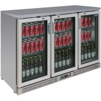 Polar Stainless Steel Bar Fridge 273 Bottles CE207-A