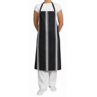 Bib- Navy/White Vertical Stripe