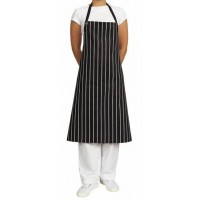 Bib - Black/White Vertical Stripe