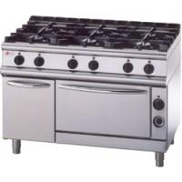 BARON 6 Burner Gas Range Oven