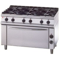 BARON 6 Burner Gas Range Large Oven