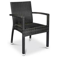 chair SANTIAGO Arm Choc-Coffee