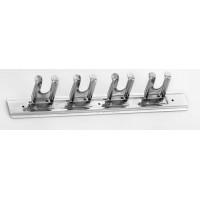 Stainless steel wall rack for utensils 4 places
