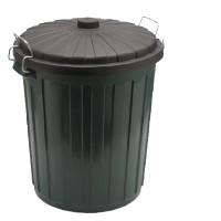 Garbage Bin Plastic w/lid - Green