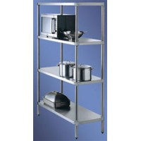 SIMPLY STAINLESS SS 4 Tier Shelving