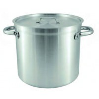 Chef Inox | Stockpot aluminium with reinforced rim and cover 40ltr