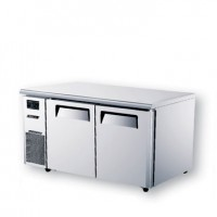 Skipio | 2 Door Under Counter Fridge With Side Prep Table