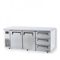 Skipio | 3 Draw 2 Door Fridge With Under Counter Side Prep Table